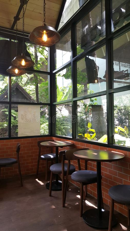 Caféecke lizenzfreie stockfotografie