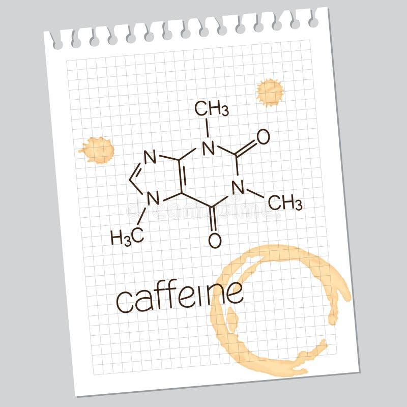 Caféine illustration stock