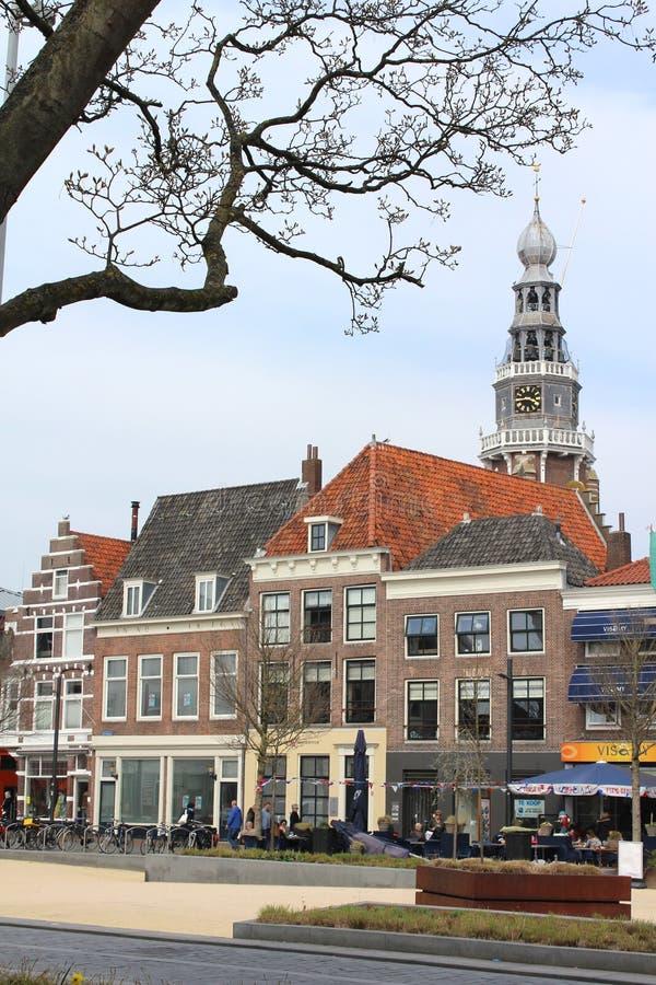 Cafés do centro de cidade de Vlissingen imagem de stock