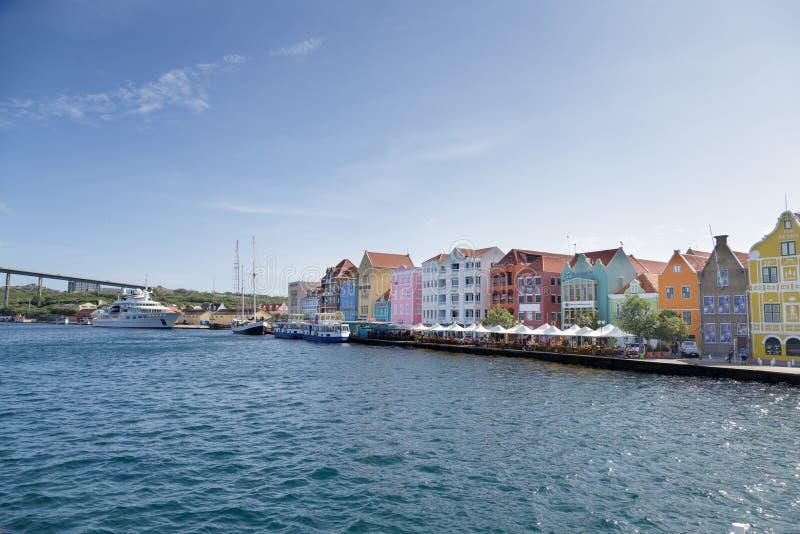 Cafés y tiendas en Curaçao fotos de archivo libres de regalías
