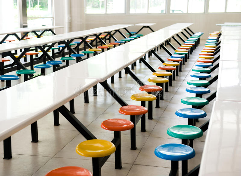 Cafétéria d'école image libre de droits