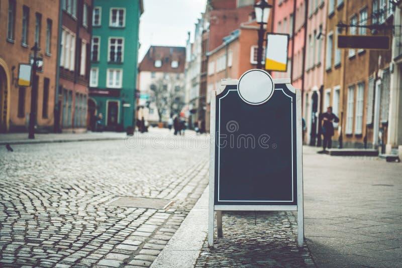 Cafézeichen mit Raum für Text lizenzfreie stockbilder