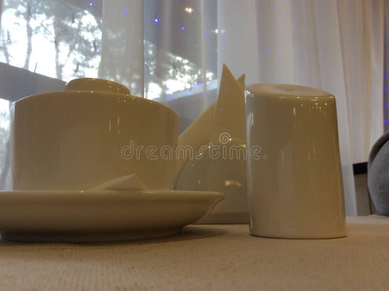 Caf? da manh? branco fotos de stock