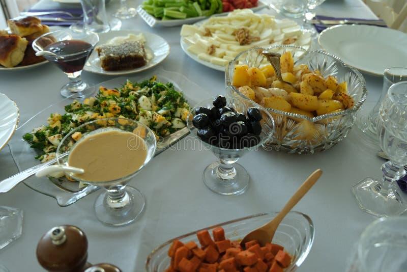 Caf? da manh? tradicional do turco imagem de stock