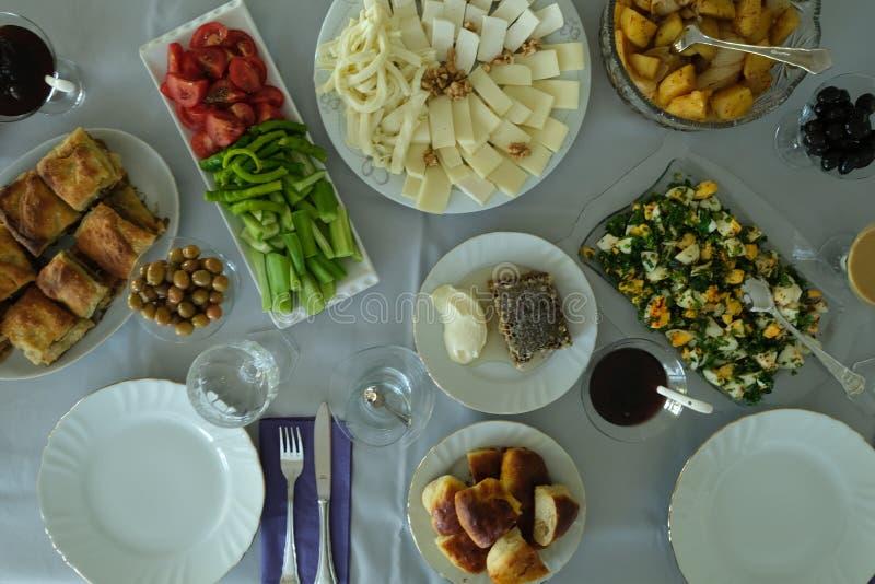 Caf? da manh? tradicional do turco fotos de stock royalty free