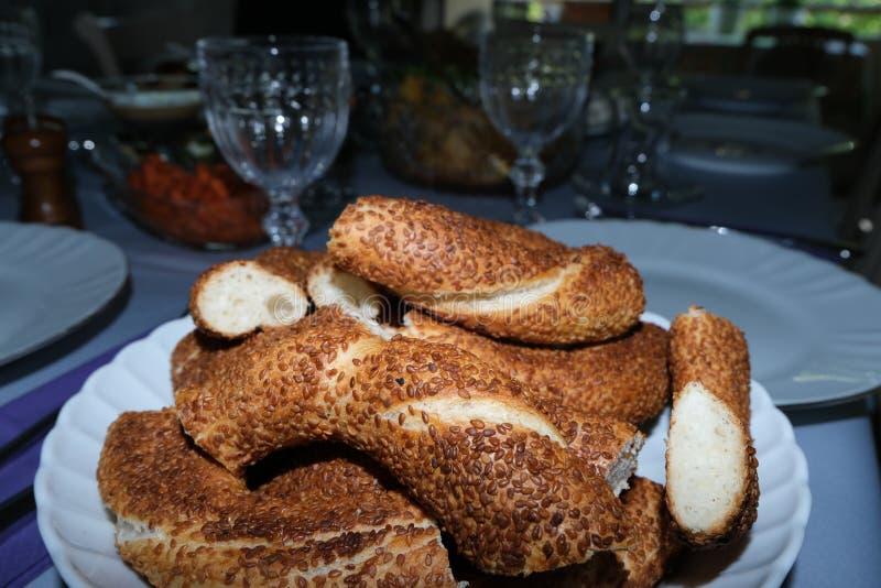 Caf? da manh? tradicional do turco imagens de stock
