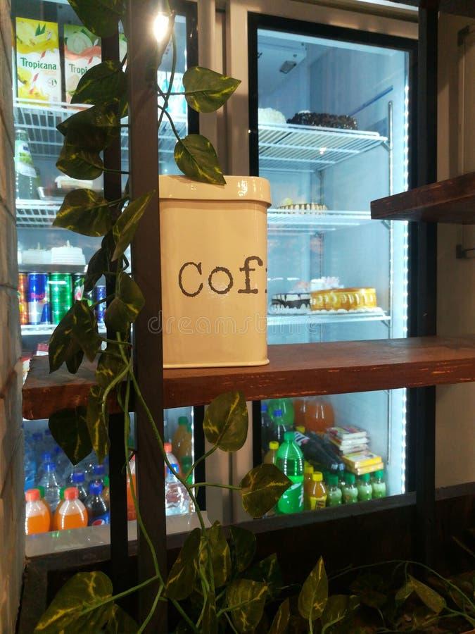 Caf? de caf? images libres de droits