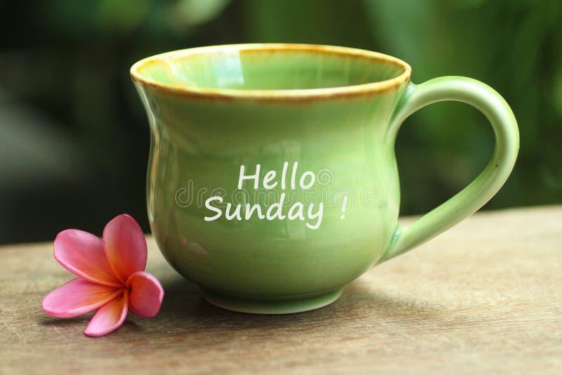 Caf? de domingo Caf? de la ma?ana Taza de concepto del café o del té fotos de archivo