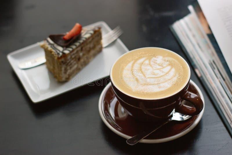Caf? e bolo fotografia de stock