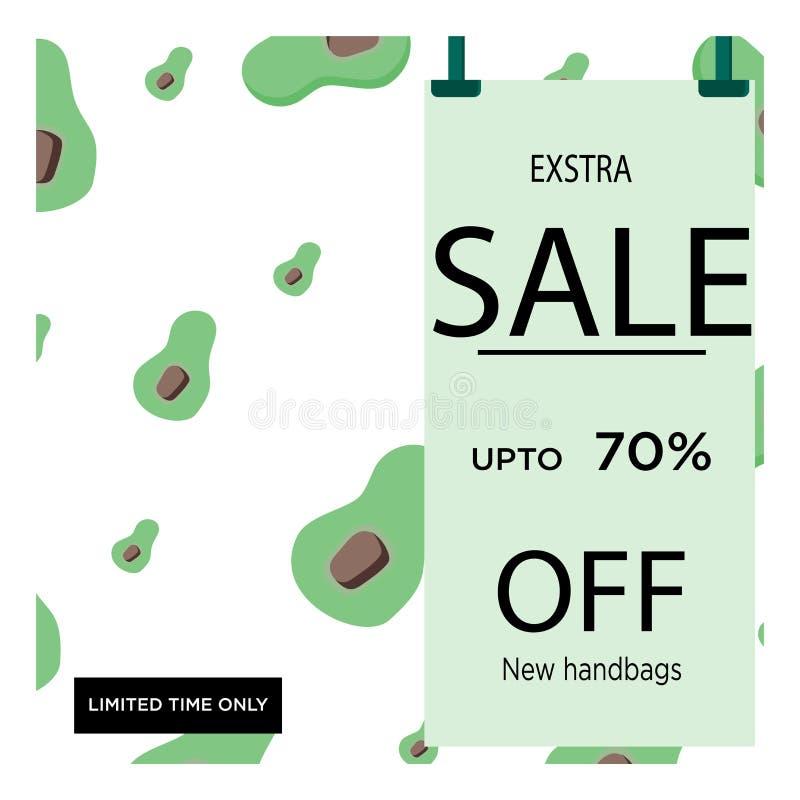 Caf? verde Projeto do molde da bandeira da venda Oferta especial da venda grande Café com desconto de 70% Bandeira da oferta espe ilustração royalty free