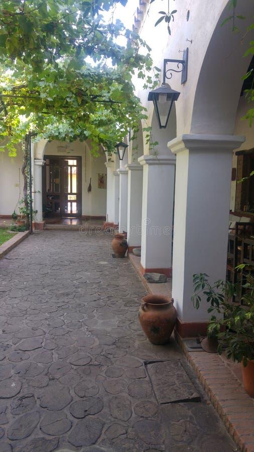 Cafayate萨尔塔阿根廷galerÃa,画廊,殖民地居民 库存照片