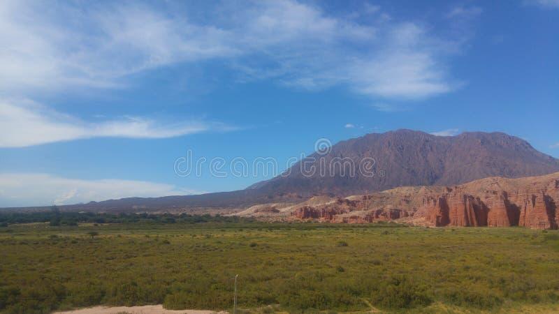 Cafayate Salto Argentyna Los Colorados zdjęcie stock
