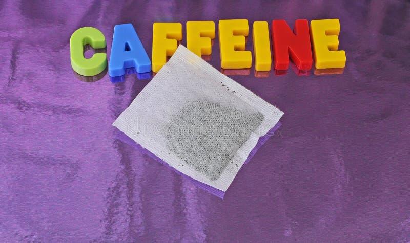 Cafeína e saquinho de chá imagem de stock royalty free