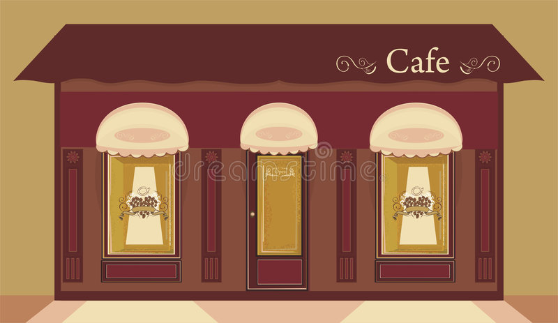 cafe stock illustrationer