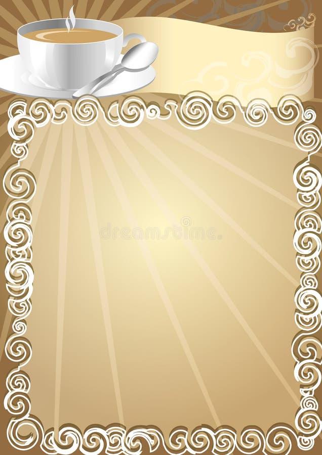 Cafe Advertisement Board royalty free illustration