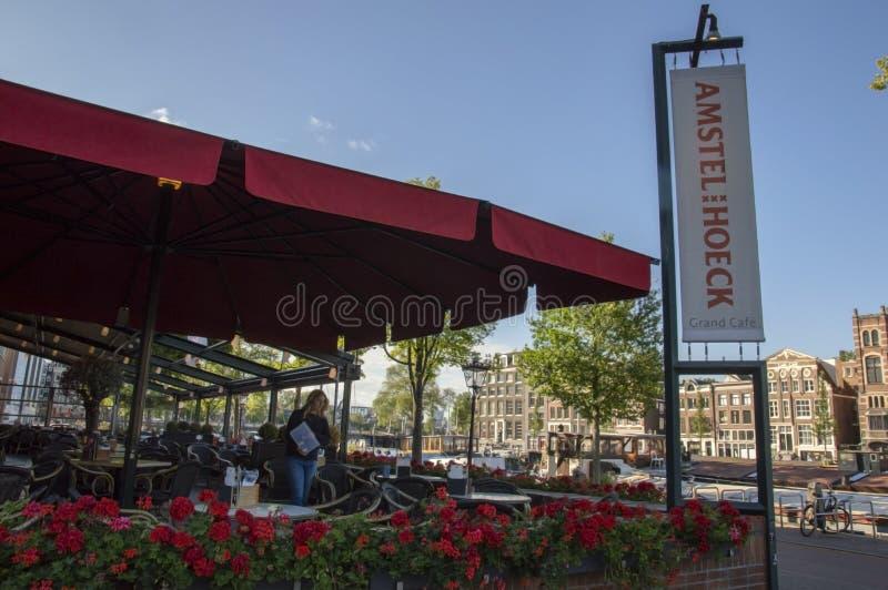 Cafe Amstel Hoeck Στο Άμστερνταμ Στις Κάτω Χώρες 2019 στοκ εικόνα