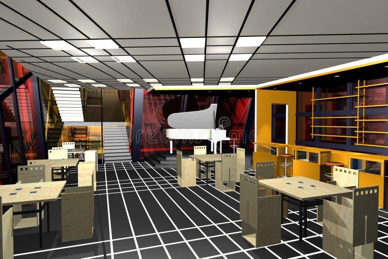 Download Cafe bar interior stock illustration. Image of illumination - 19584728
