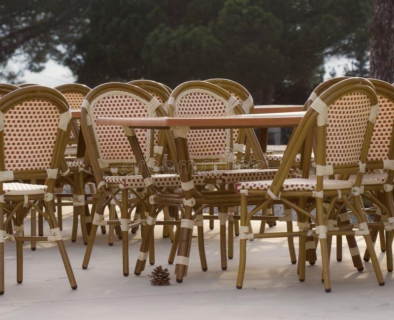 cafe chodnik zdjęcie royalty free