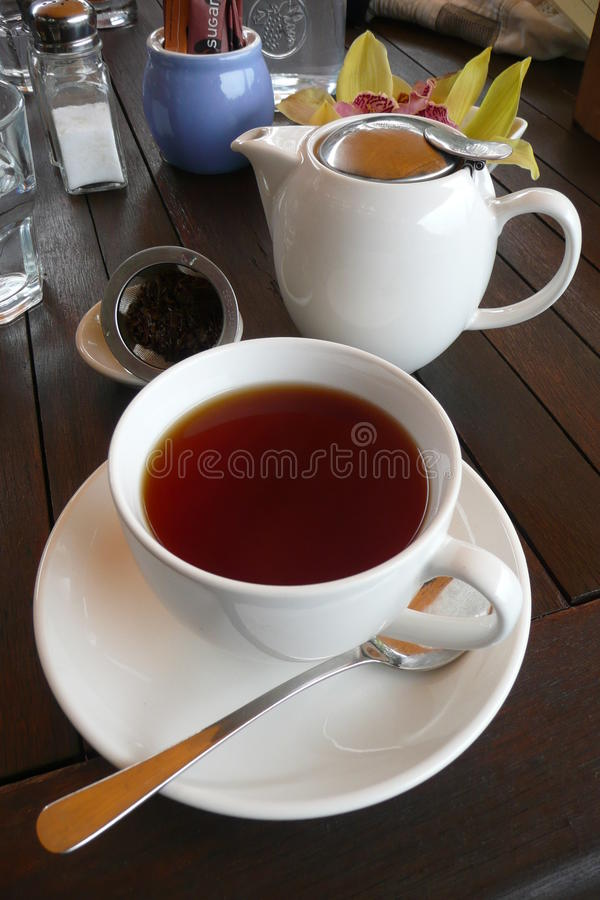 Cafe: Cup Of Tea Royalty Free Stock Photo