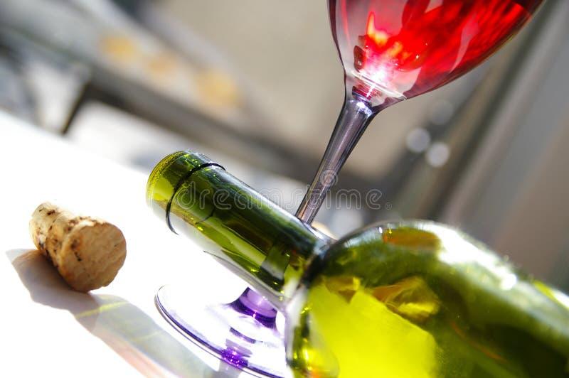 cafe czerwone wino zdjęcia stock