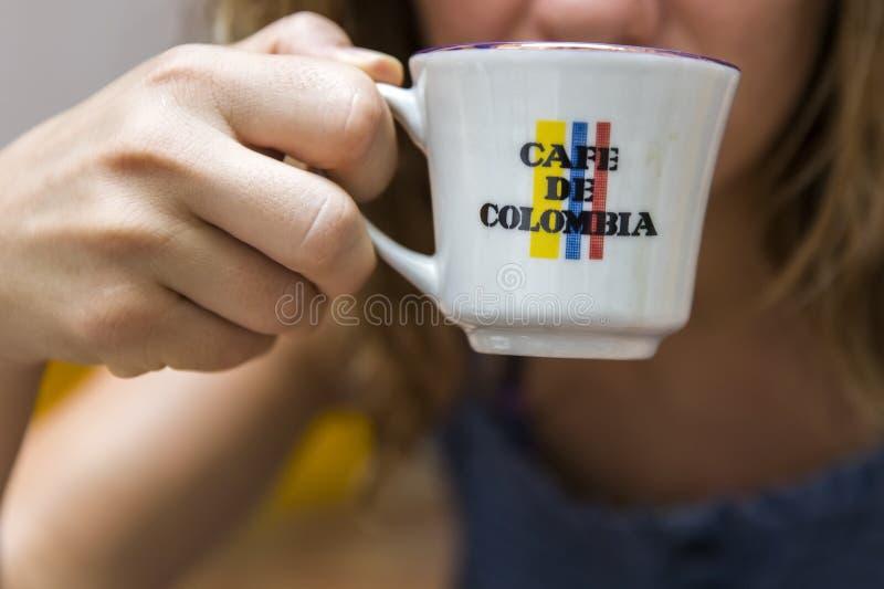Cafe de Colombia royalty-vrije stock foto's