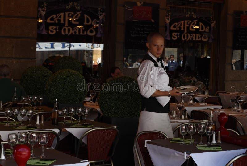 Cafe De Saint Malo stock photo