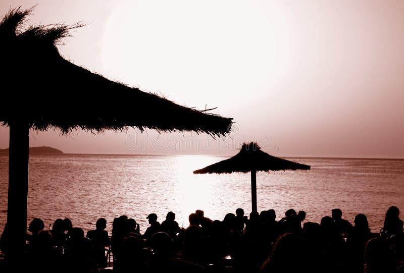 cafe Del Ibiza muddy słońca fotografia royalty free