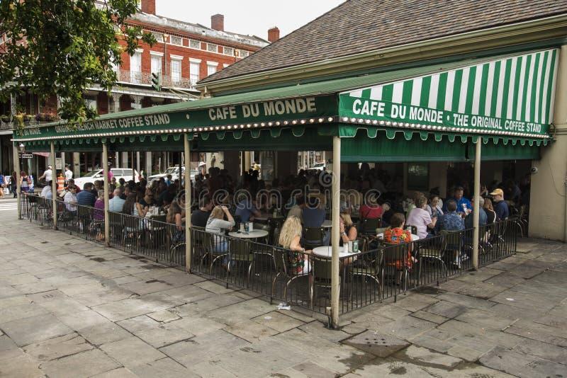 Cafe Du Monde di fama mondiale immagine stock