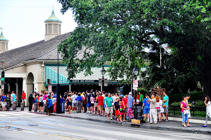 Cafe Du Monde a New Orleans, LA fotografia stock libera da diritti