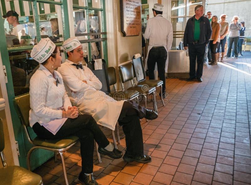Cafe Du Monde New Orleans Luisiana fotografia stock libera da diritti