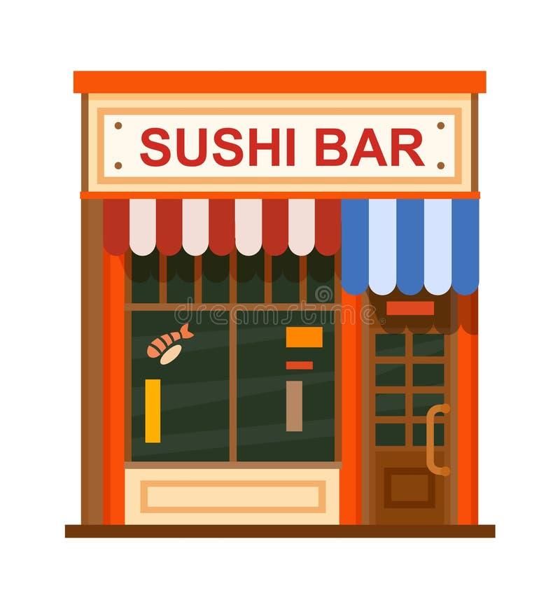 Cafe flat icon stock illustration