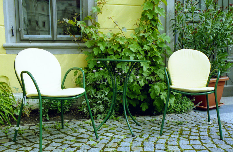 Cafe furniture stock images