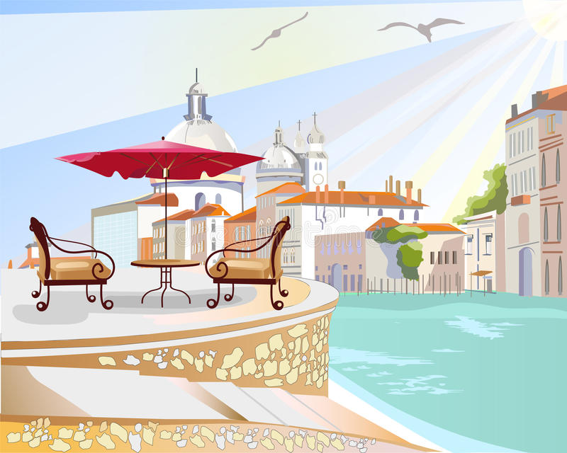 cafe italy vektor illustrationer