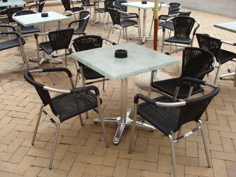 cafe krzeseł tabel fotografia royalty free
