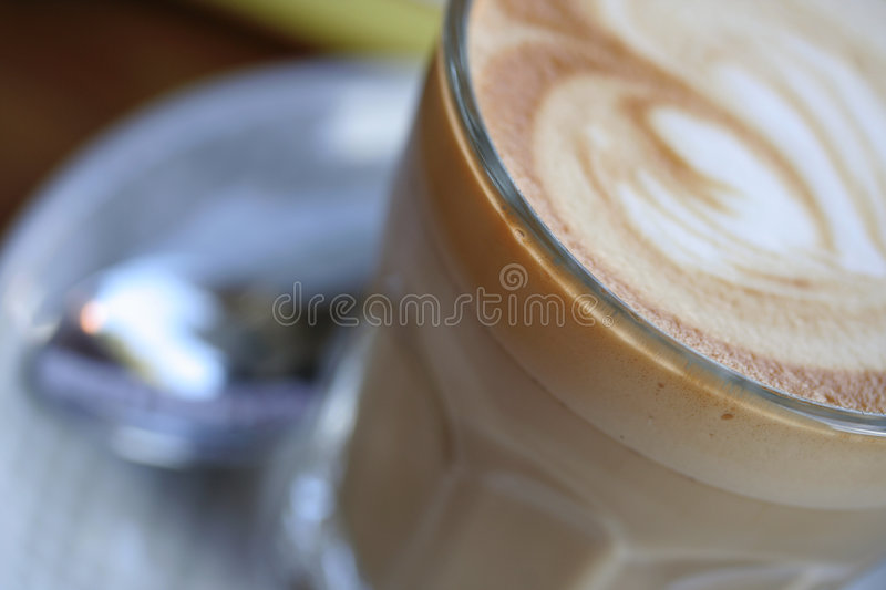 cafe latte fotografia royalty free