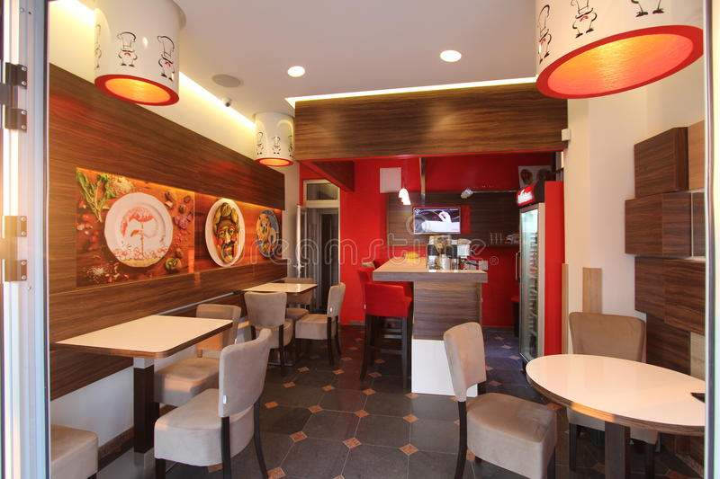 Cafe Lukavica fast food royalty free stock image
