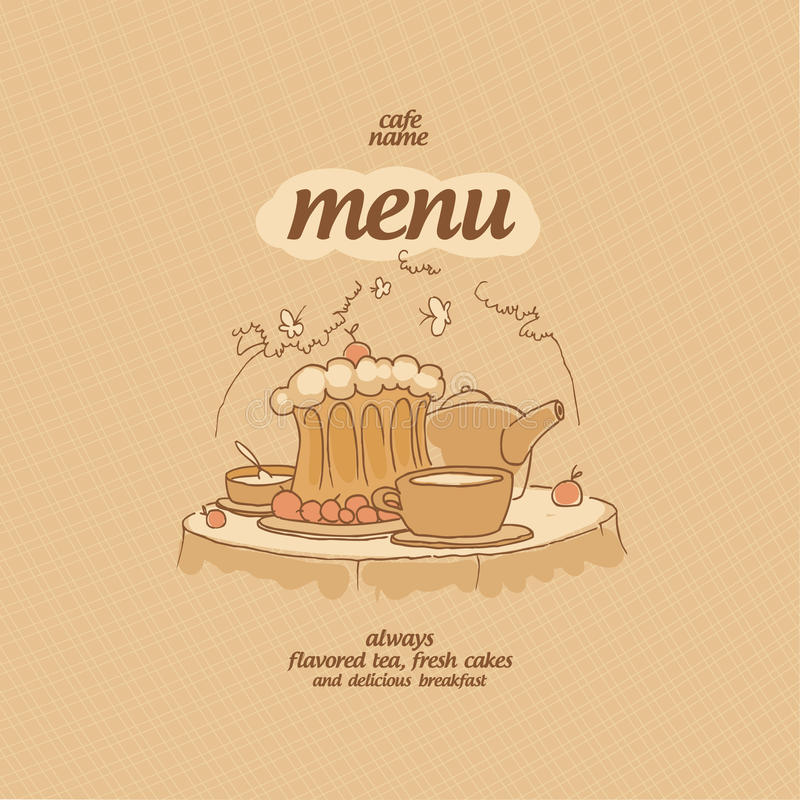 Download Cafe menu. stock vector. Illustration of cake, cream - 25709447