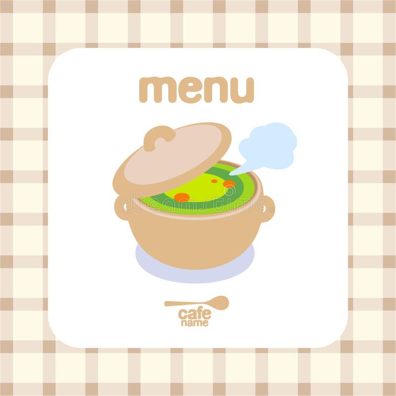 Cafe Menu Design Template. Royalty Free Stock Images