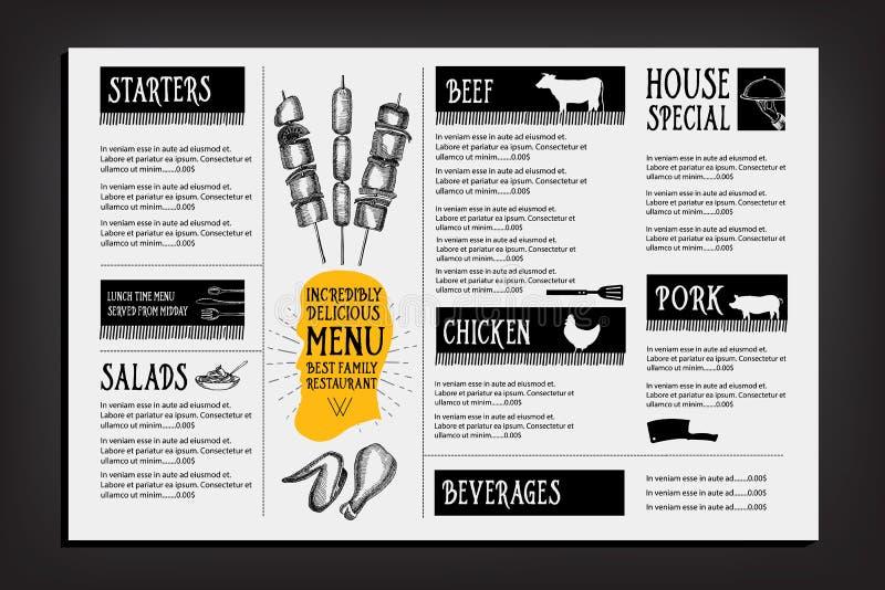 Cafe Menu Restaurant Brochure. Food Design Template. Stock Vector ...