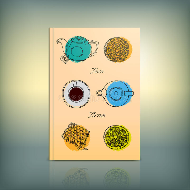 Cafe Menu vector. Beautiful Menu concept for an eating house, restaurant royalty free illustration