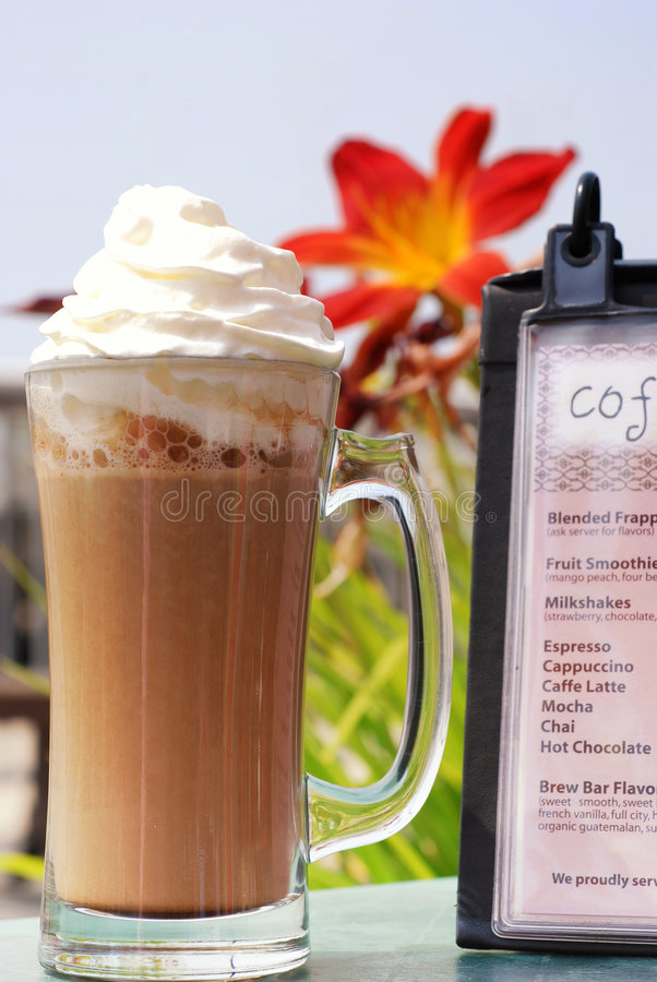 Cafe Mocha Latte Stock Photography