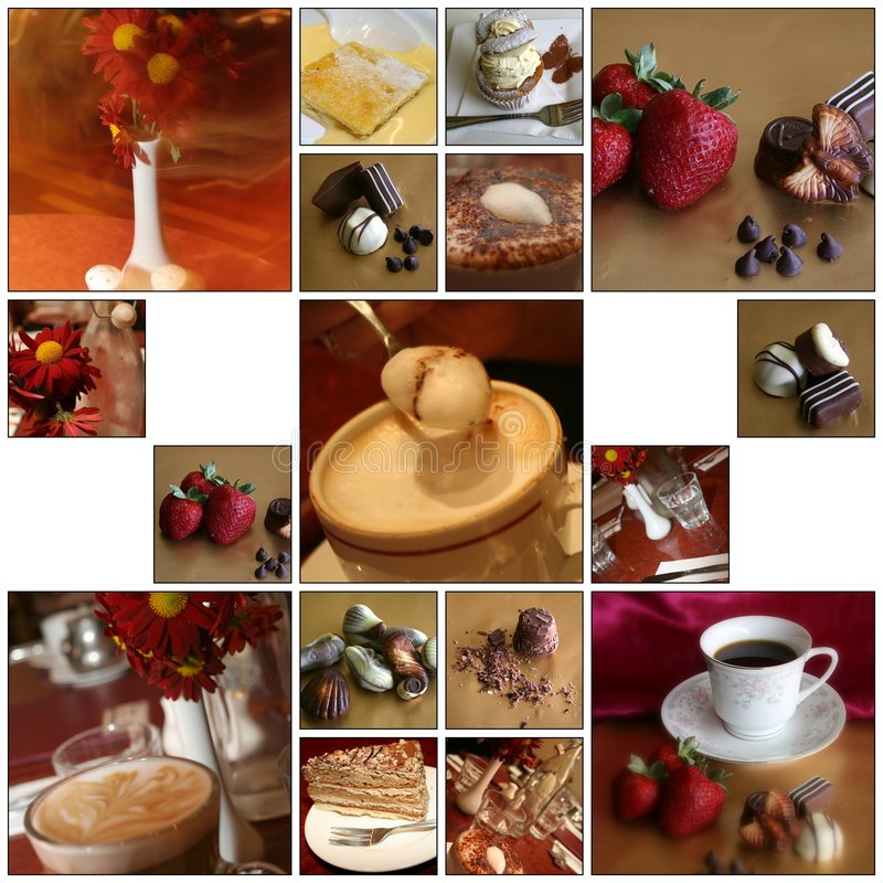 Download Cafe Montage stock image. Image of desert, food, custard - 7330525