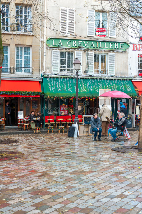 Cafe in Paris stock photography