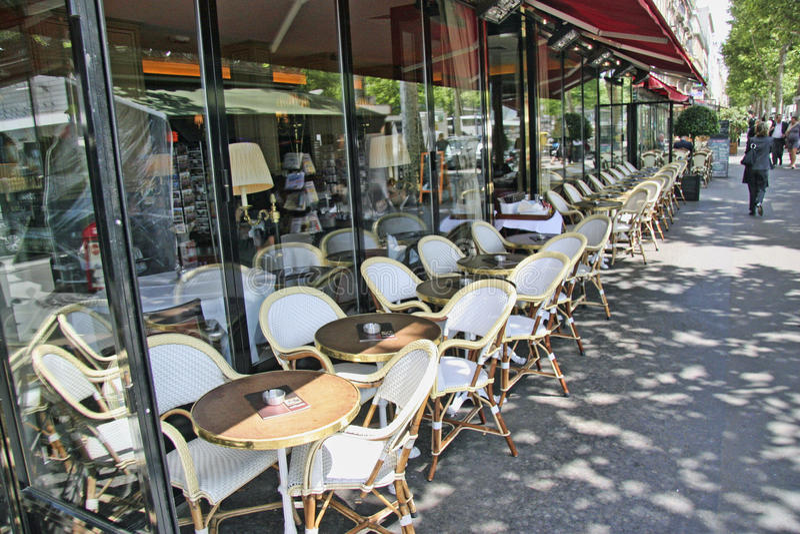 Cafe Paris Frankrike arkivbild