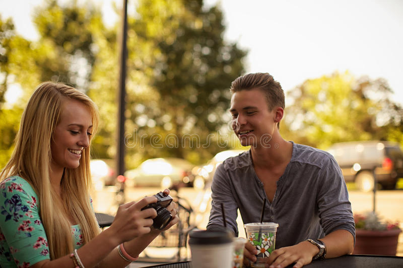 Cafe photo review royalty free stock photos