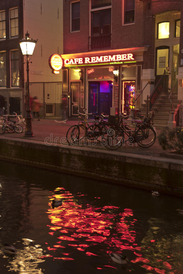 Cafe Remember, The Rossebuurt, Amsterdam royalty free stock photo