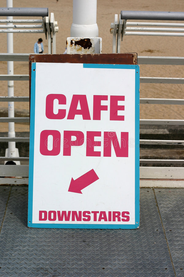 Download Cafe Sign stock image. Image of cafe, cafeteria, takeaway - 182081
