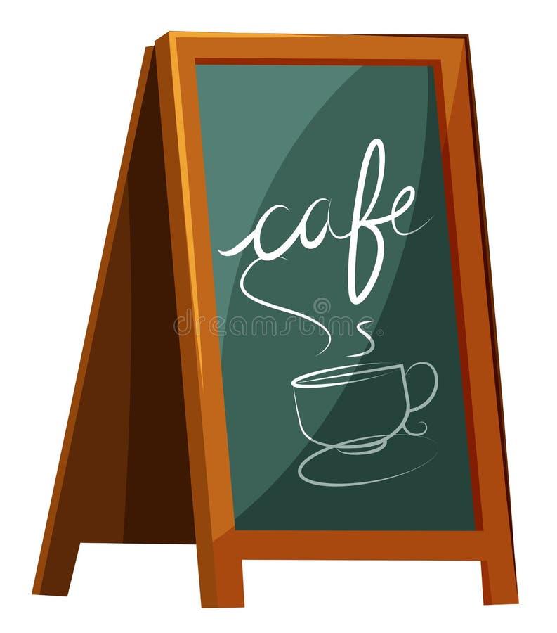 Cafe signage. Illustration of a cafe signage on a white background stock illustration