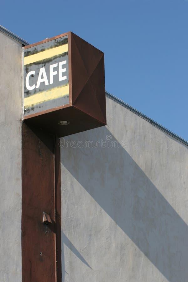 cafe stary znak fotografia royalty free