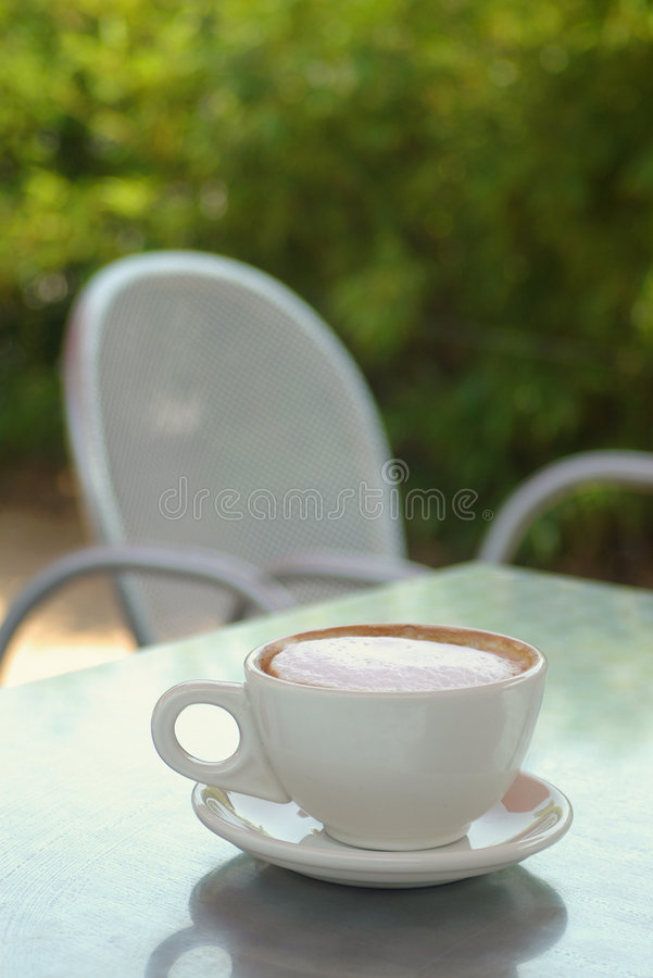 Cafe table royalty free stock photography